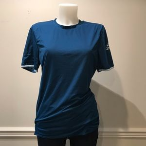 Adidas 2 tone blue and baby blue workout shirt